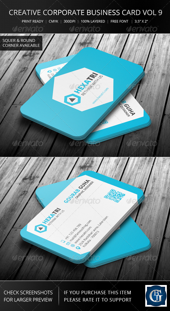 GraphicRiver Creative Corporate Business Card Vol 9 6163028