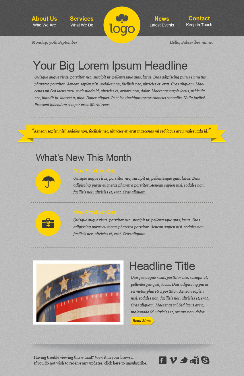The Minimalist HTML Email Template (25 Pages)