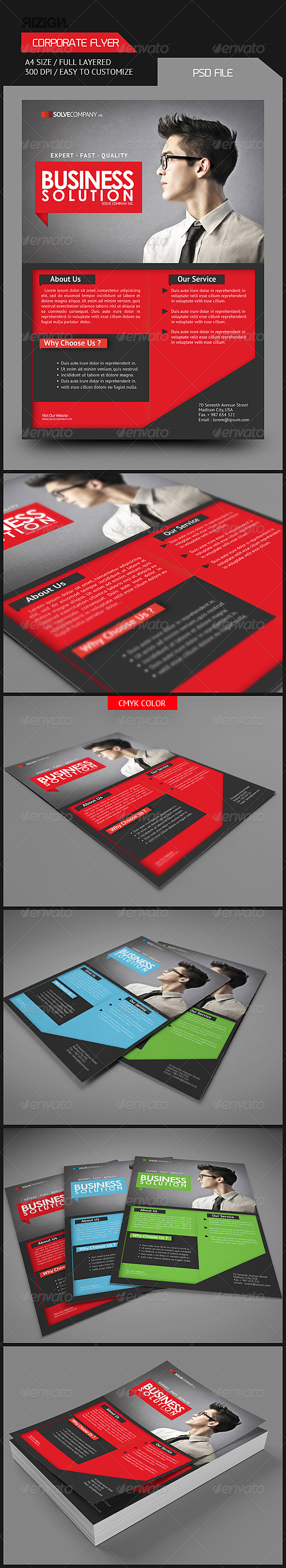 GraphicRiver Corporate Flyer 6155451