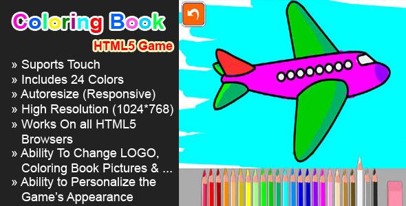 CodeCanyon Coloring Book HTML5 Game 6163303