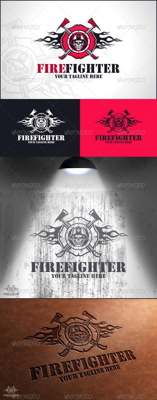 Fire Fighter Logo Template