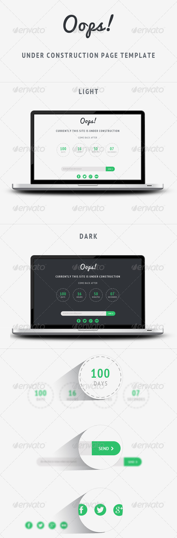 GraphicRiver Oops Under Construction Page Template 6163419