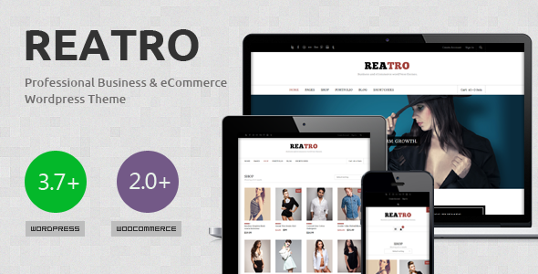 Reatro Multi-Purpose WooCommerce WordPress Theme - The theme preview image.