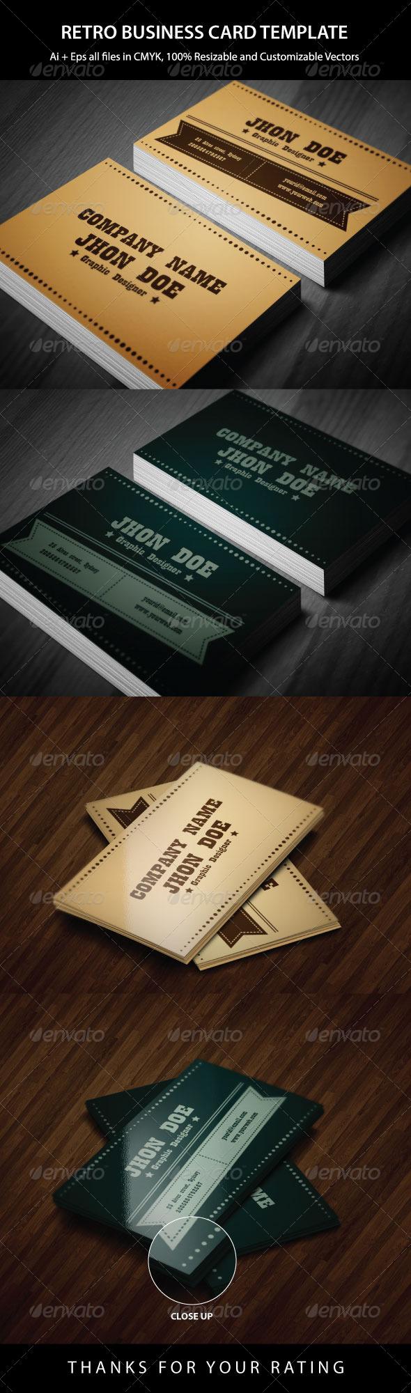 GraphicRiver Exclusive Retro Business Card 6163787