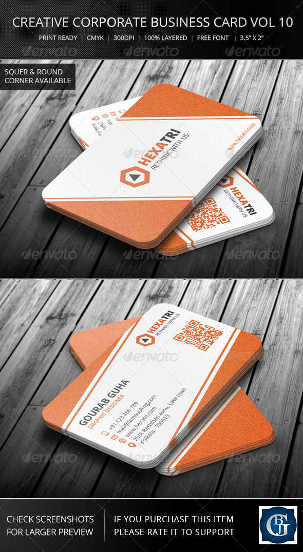 Creative Corporate Business Card Vol 10 - Corporate Business Cards
