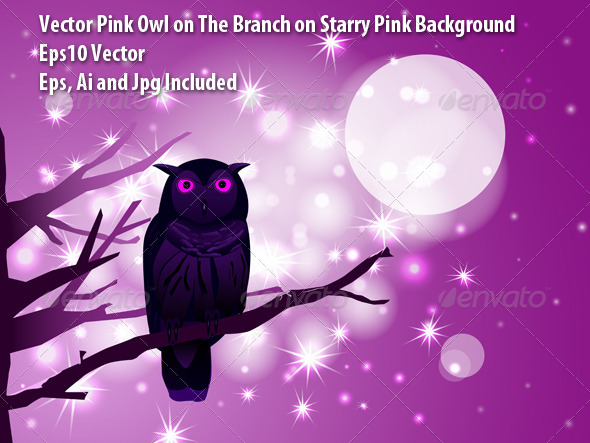 GraphicRiver Pink Owl 6164015