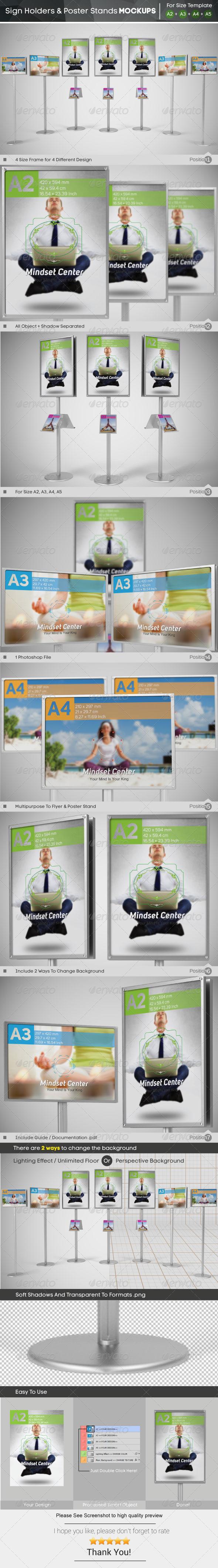 GraphicRiver Sign Holder & Poster Stands Mockups 6133376