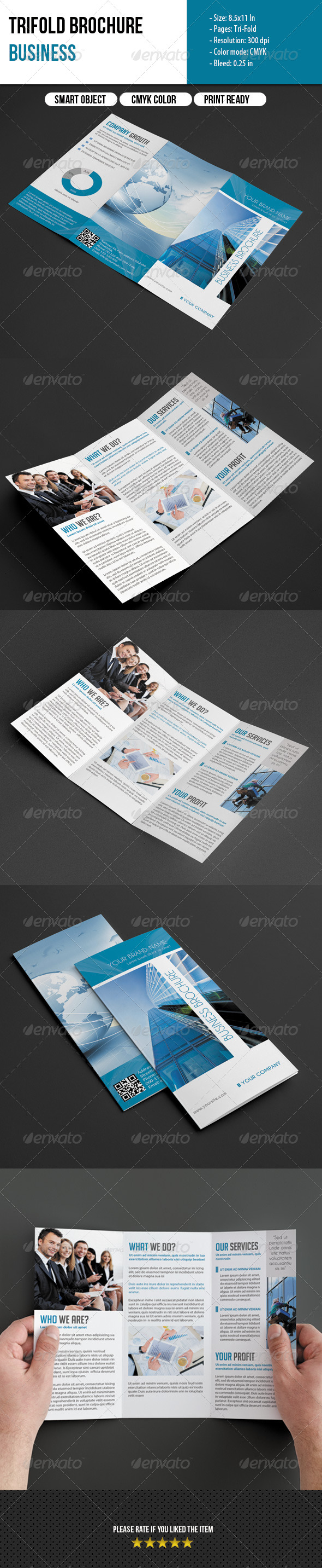 GraphicRiver Trifold Brochure-Business 6164289
