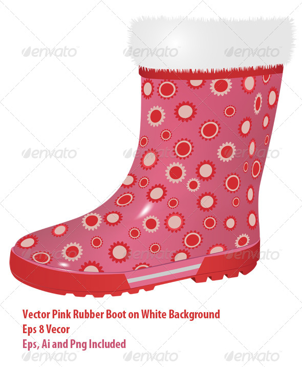 GraphicRiver Pink Rubber Boot 6164507