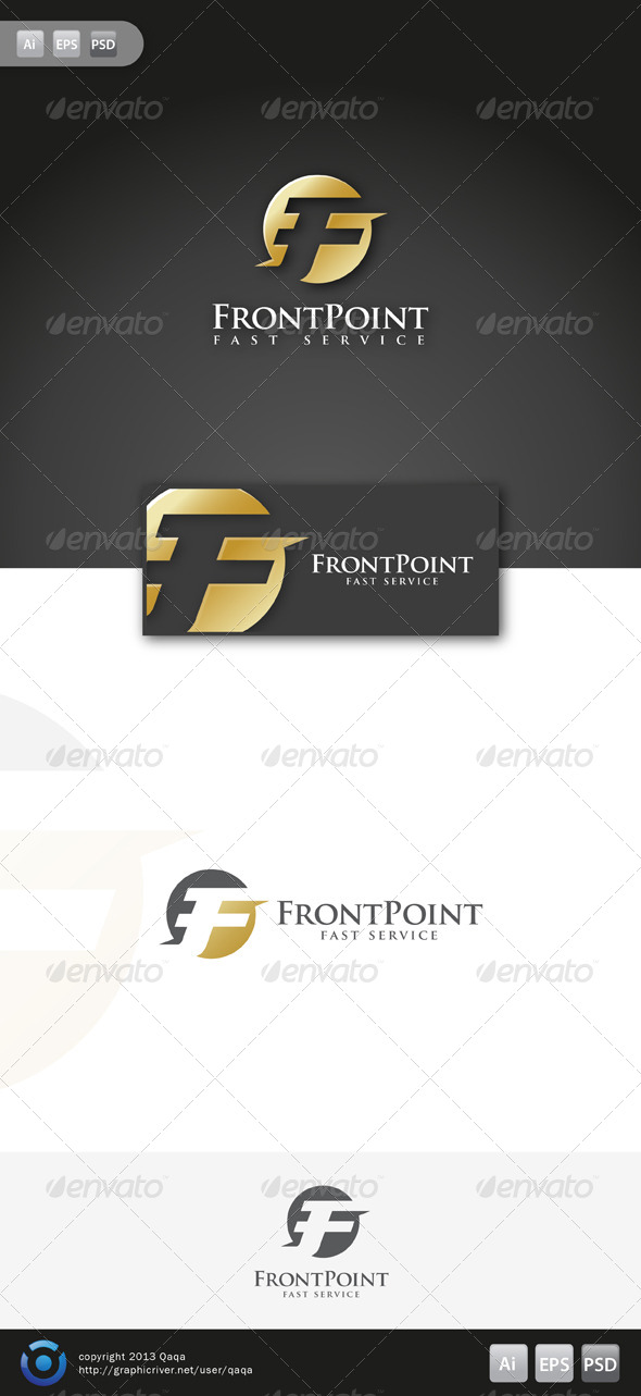 GraphicRiver F Front Point Logo 6164527