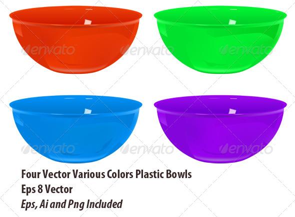 GraphicRiver Plastic Bowls Set 6164678