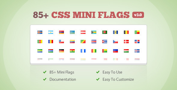 85+ CSS Mini Flags