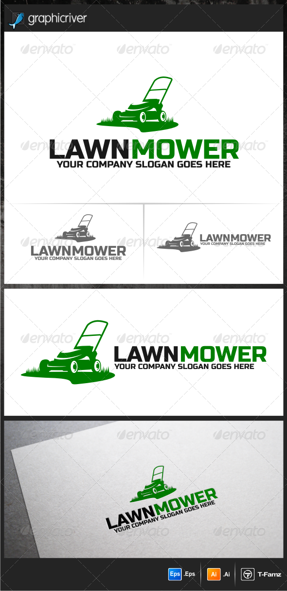 GraphicRiver Lawn Mower Logo Templates 6165136