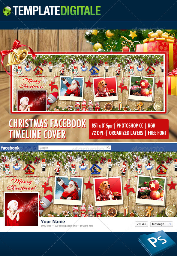 GraphicRiver Christmas Facebook Timeline 6165542