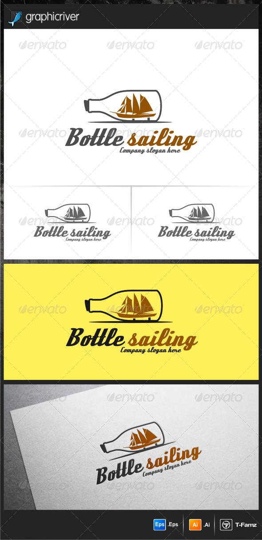 GraphicRiver Bottle Sailing Logo Templates 6165553