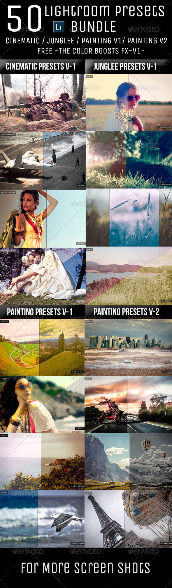 GraphicRiver 50 Lightroom Presets Bundle 6165573