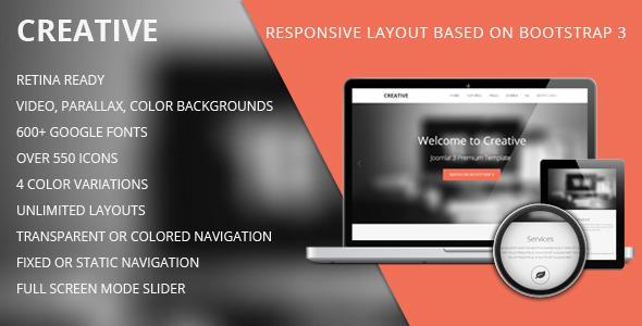 ThemeForest TD Creative Responsive Joomla Template 6165579
