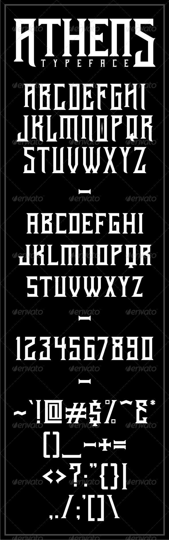 GraphicRiver Athens Typeface 6165635
