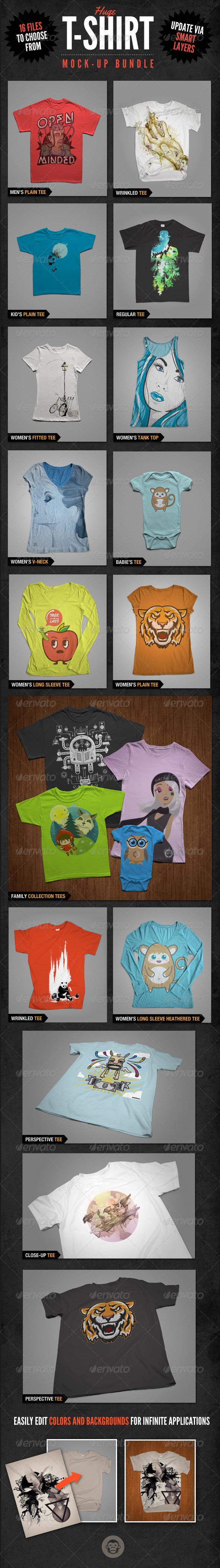 GraphicRiver T-Shirt Mockups Bundle Pack 6166098
