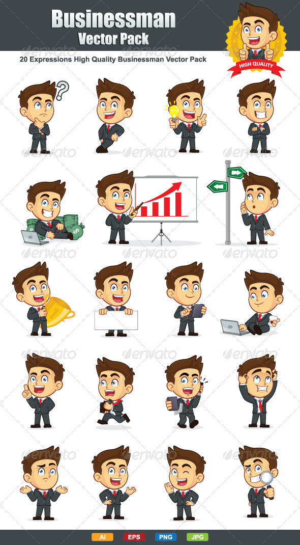 GraphicRiver Businessman Vector Pack 6166445