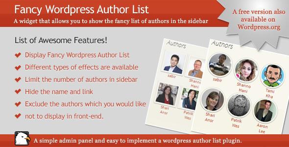 CodeCanyon A Fancy Wordpress Author List 6135589