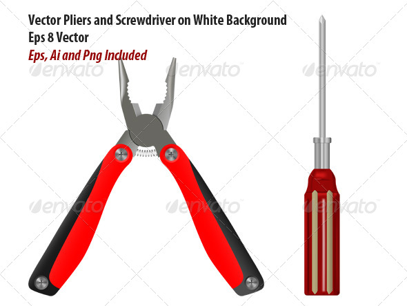GraphicRiver Pliers and Screwdriver 6166692
