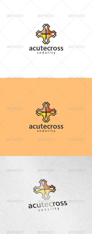 GraphicRiver Acute Cross Logo 6166831
