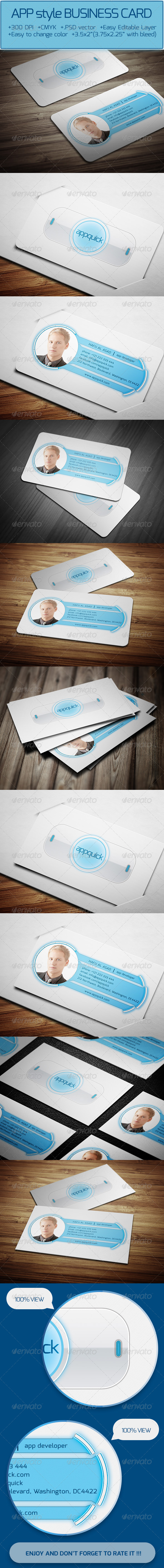 GraphicRiver APP style Business Card 6166853
