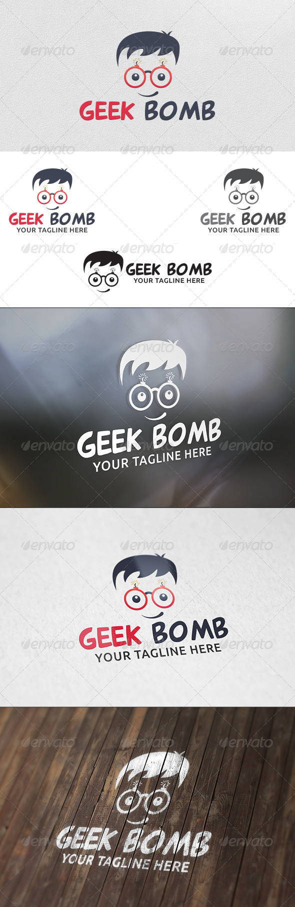 GraphicRiver Geek Bomb Logo Template 6167184