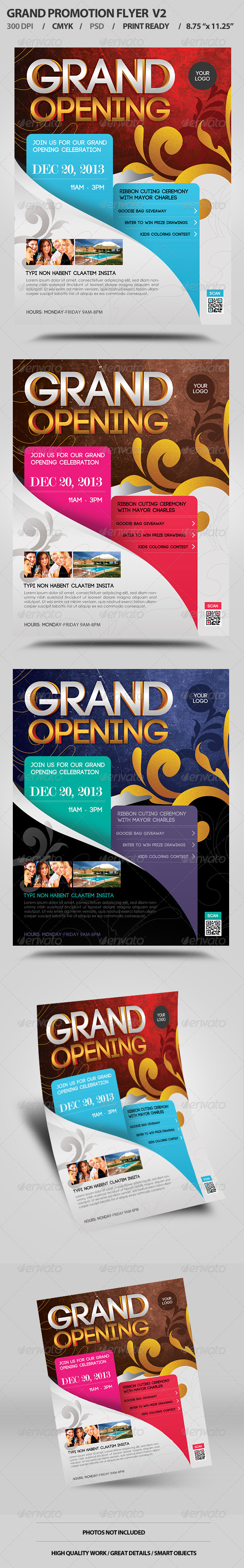 Grand Opening Flyer V2  - Events Flyers