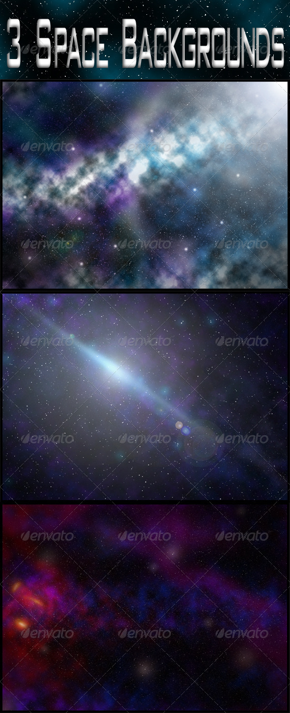 GraphicRiver 3 Space Backgrounds 6167814