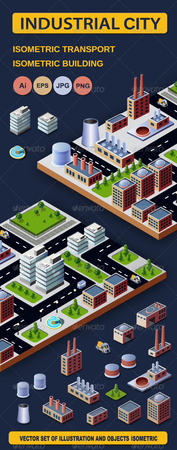 GraphicRiver Industrial City 6167821