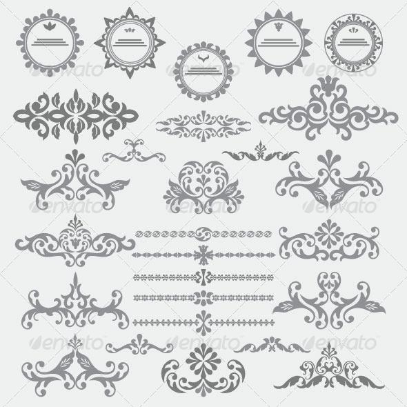 GraphicRiver Vintage Design Elements 85 6168085