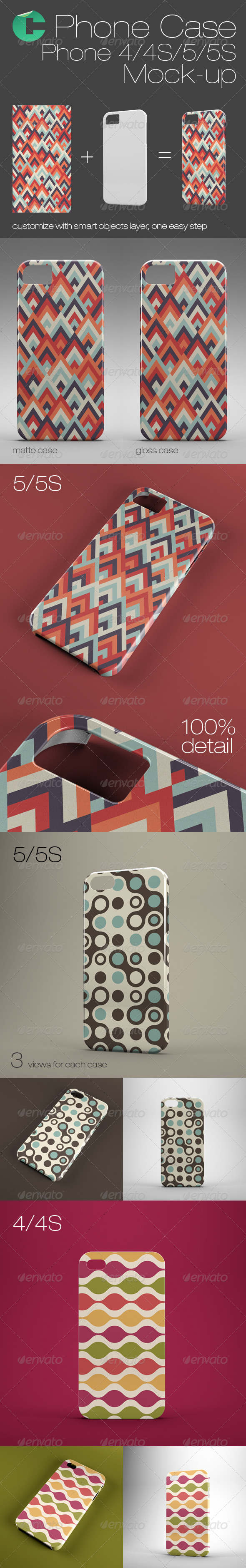 GraphicRiver Phone Case Mock-Up Phone 4 4S 5 5S 6168095