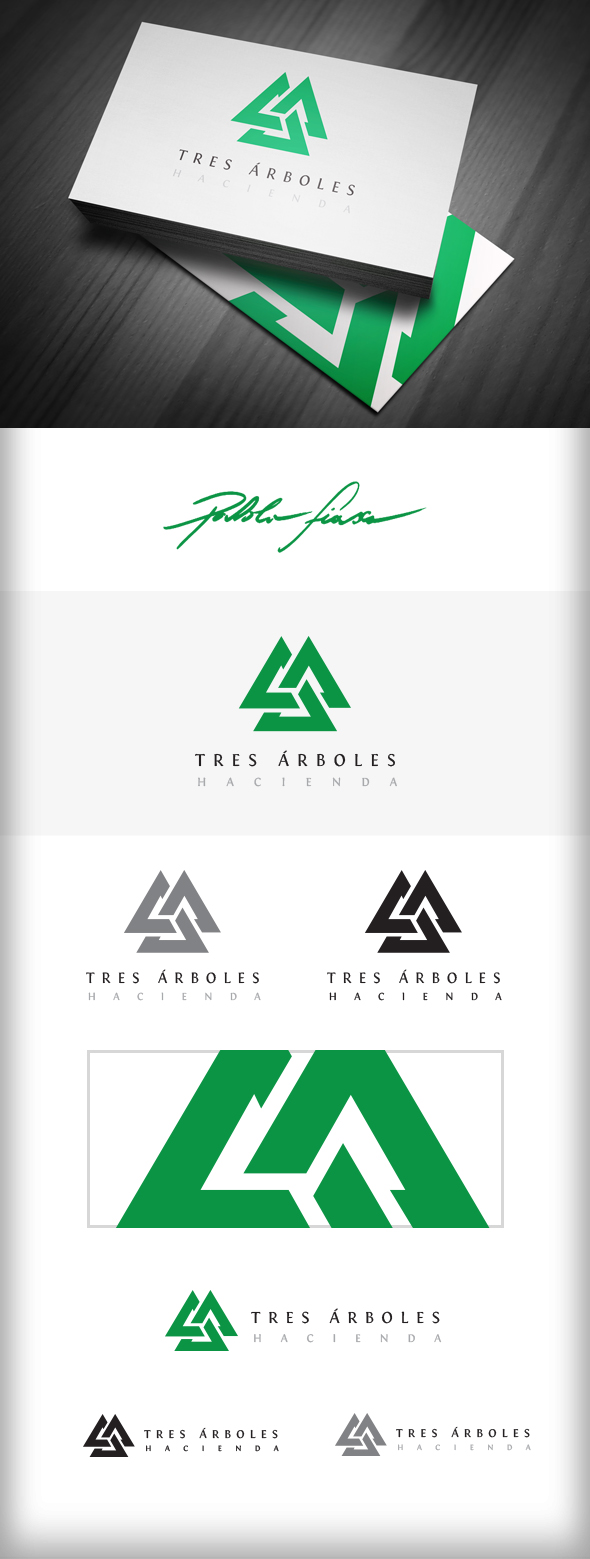 GraphicRiver Interlocking Triangles Logo Pine Tree Lodge Logo 6168137