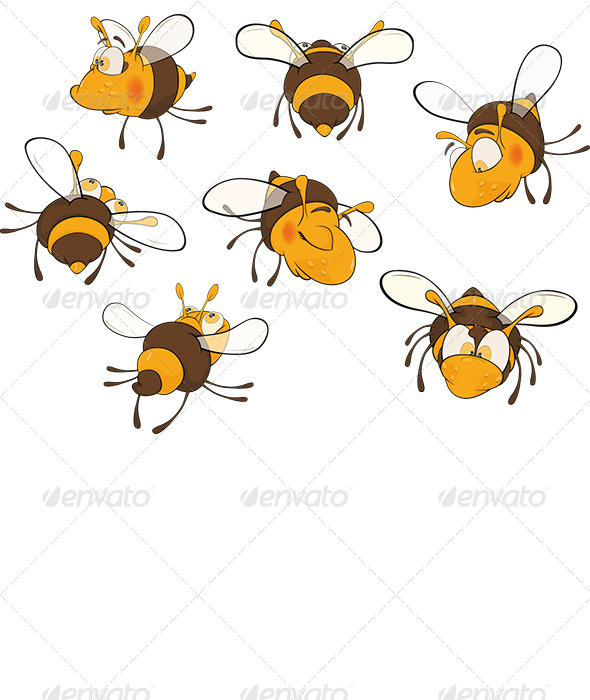 GraphicRiver Bee Clip Art Cartoon 6168594