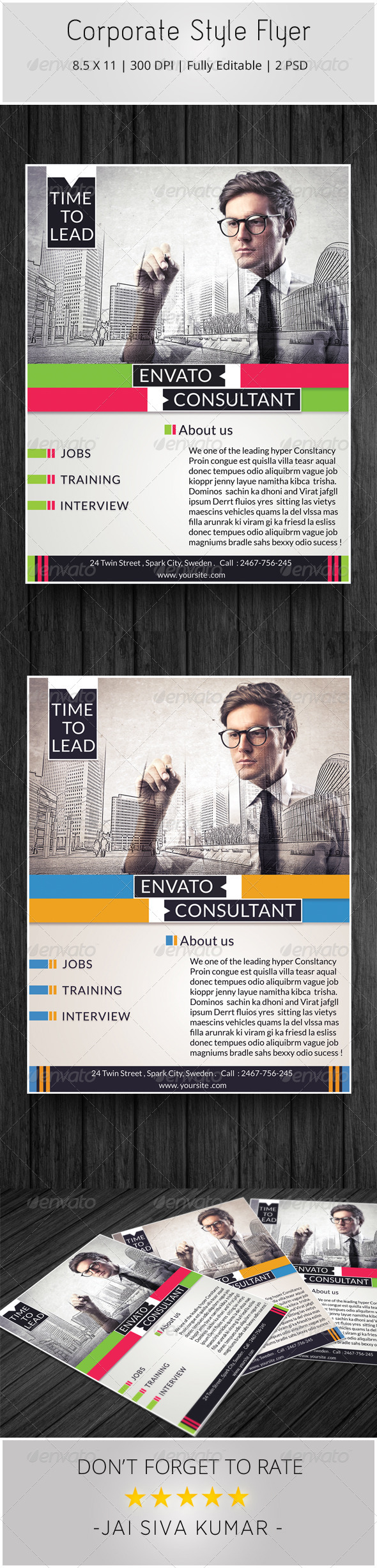 GraphicRiver Corporate Style Flyer 6161402