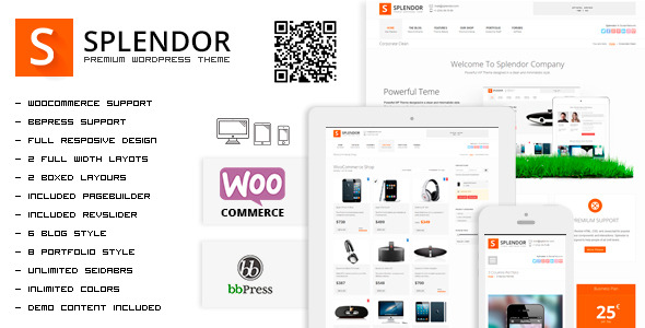 Splendor - Premium Corporate & eCommerce WP Theme