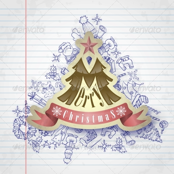 GraphicRiver Christmas Sticker 6168995