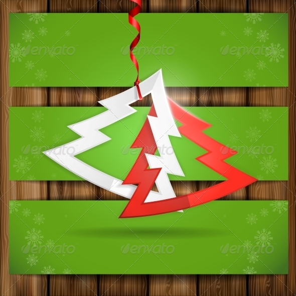 GraphicRiver Simple Paper Christmas Tree 6169122