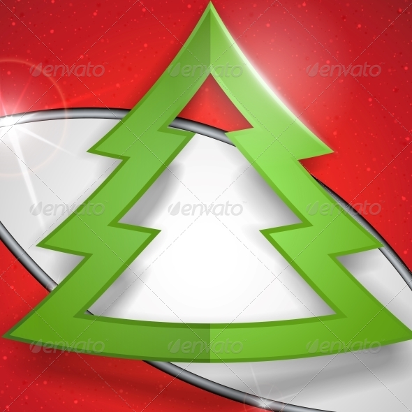 GraphicRiver Simple Paper Christmas Tree 6169199