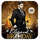 Elegant Birthday or New Year | Flyer + FB Cover - GraphicRiver Item for Sale