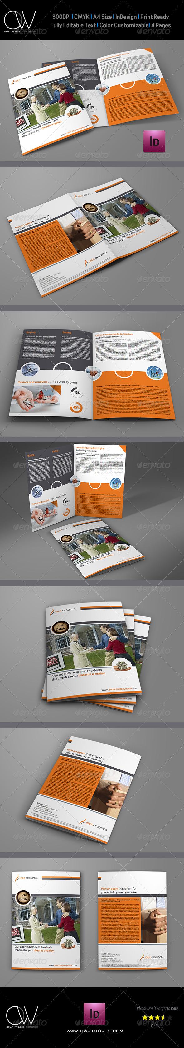 GraphicRiver Real Estate Services Bi-Fold Brochure Template 6169696