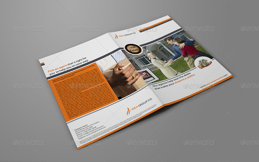 Simple Real Estate A4 Bi Fold Brochure Template Zesloka