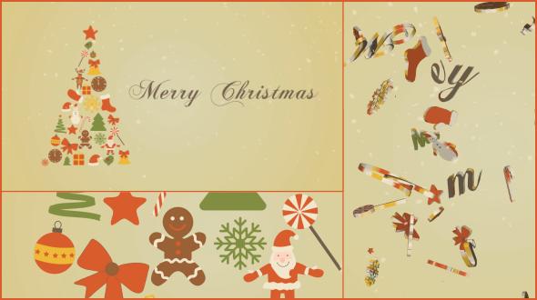 Christmas New Year Greetings u0026 20 elements
