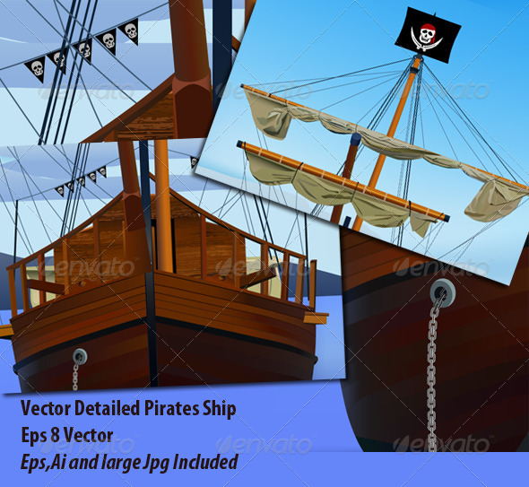 GraphicRiver Pirates Ship 6164572