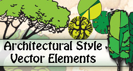 Architectural Style Vector Elements