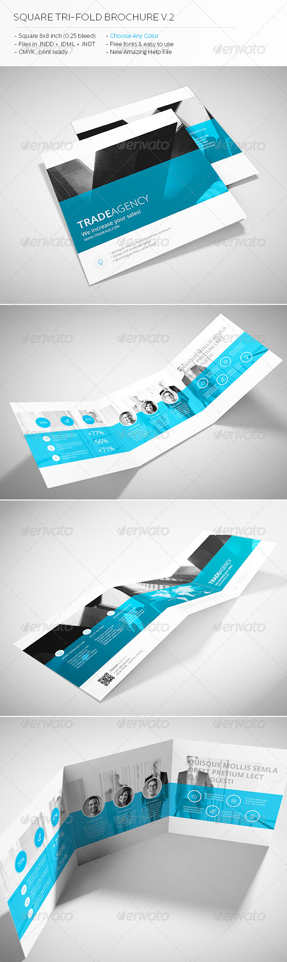 GraphicRiver Trade Agency Square Tri-fold Brochure 6170726