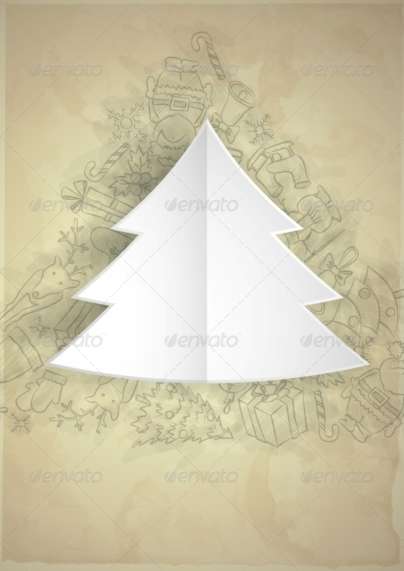 GraphicRiver Merry Christmas Stylish Tree 6171192