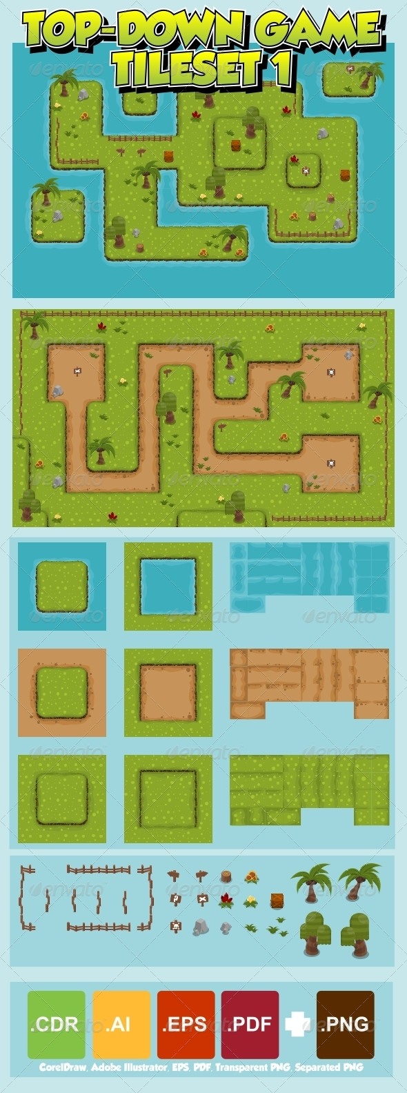 GraphicRiver Top-Down Game Tileset 1 6171284